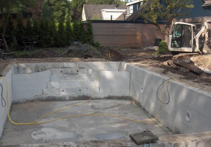 Uitgraven zwembad